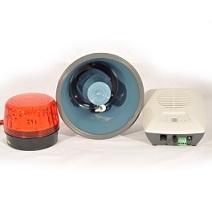 Amplified tone ringer, horn speaker and strobe light